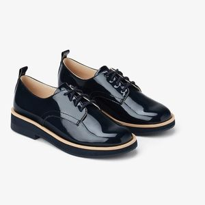 Zara new patent leather derby shoes